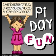 Pi Day is 3.14 (March 14th)! Have some hands-on fun and explore pi during the week of March 8th, or use whenever you are learning about circles! This resource was a BEST SELLER in 2014, and updated in 2015.Looking for Pi Day activities for upper grades?