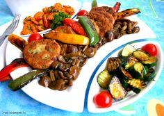 Hozzávalók: 2 közepes vöröshagyma, 50 dkg téli laskagomba, 15-20 dkg téli fülőke, 3 evőkanál olívaolaj, 5 dkg vaj, 15-15 dkg juhtúró és tehéntúró, 1 kis csokor petrezselyem, 4 tojás, 20 dkg finomliszt, só, őrölt fekete bors a ... Cook Books, Kung Pao Chicken, Pot Roast, Meals, Cooking, Ethnic Recipes, Food, Carne Asada, Kitchen