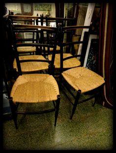 Set of Four Elegant Italian High Back Super Light Dinning Chairs Gio Ponti Style #MidCenturyModern #DiningChairs
