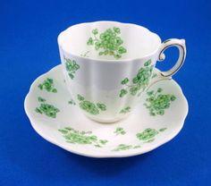 Royal Albert Shamrock Tea Cup and Saucer Set