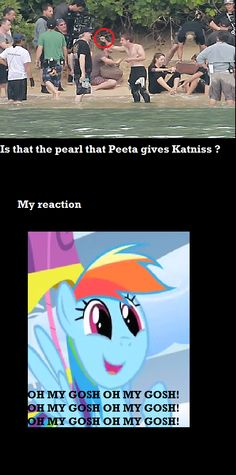 Is  the pearl that Peeta gives Katniss...... What's up with the ponies in the THG things now