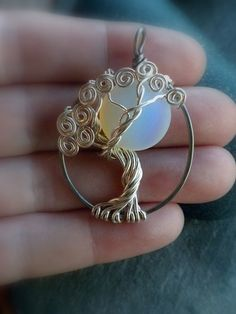 Moonlight Sterling Silver Tree of Life Pendant Necklace