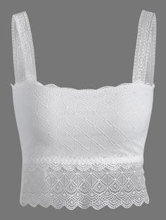 Wire Free Padded Lace Bra in White | Sammydress.com