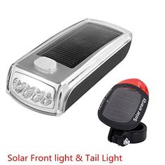 MakeTheOne® Solar Combo Light Bike Bicycle USB Rechargeable Front Headlight & Back LED Tail Light Combo -- You can get additional details at the image link.