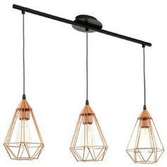 Suspension 3 Lampes Tarbes EGLO 94195 Cuivre