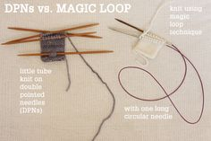 How to knit in the round using a single long circular needle. Tutorial by Tin Can Knits