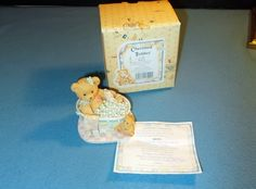 """Enesco Cherished Teddies Betty """"Bubblin' Over With Love"""" in its Box w/ Pkg 1993"""
