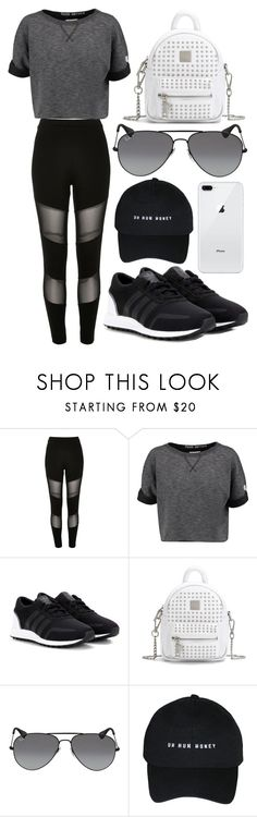 """697."" by plaraa on Polyvore featuring River Island, Champion, adidas Originals and Ray-Ban"