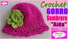 """Gorro Sombrero """"Aída"""" Niños (Parte 1) Crochet todas TALLAS EspañoI y Eng..."""
