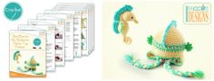 Sea Creatures Seahorse Hat and Stuffed Toy Crochet Pattern by IraRott