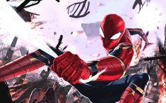 Wallpaper Iron spider, superhero, digital art