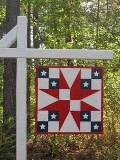 Patriotic Star Barn Quilt 2'x2'