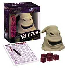 Yahtzee Tim Burtons The Nightmare Before Christmas Edition Party Game - This will be fun for the adults, & good for Halloween time too. I love Yahtzee!