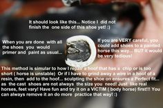 Braymere Custom Saddlery: Sculpted horseshoe tutorial