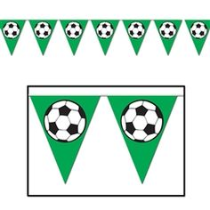 Soccer Birthday Banner Pennant for Kids Sports Party Supplies Soccer Theme World Cup Happy Birthday Wall Decorations Baby Shower Bunting Garland Photo Prop Decor Green Soccer Banner