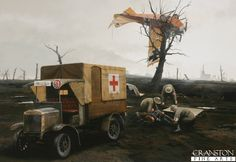 Not All Landings Are Good Landings by Ivan Berryman.  An ignominious end for an Albatros C.III demands an act of compassion by a British medical team who are first on the scene of a crash in the early years of World War 1.