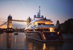 Yacht, River Thames, London