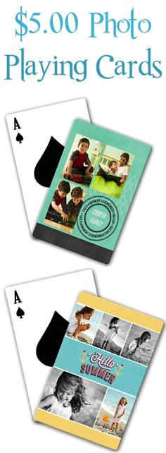 $5.00 Create-your-own Photo Playing Cards Sale! {+ s/h} ~ these make the BEST personalized gifts to stash away!