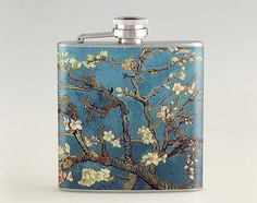 Blossoming Almond Tree Van Gogh Liquor Hip Flask, Tipsy Flask, Stainless Steel Flask 6 oz / 8 oz The flasks are available in following sizes.  - 6 oz