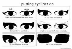 Your eyeliner skills have gone from this / 20 Signs You're Addicted To Makeup (via BuzzFeed)