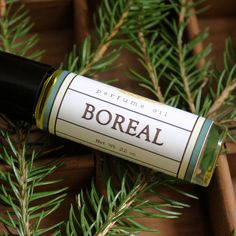 """Boreal Perfume Oil: """"Mostly bitter white grapefruit, manned up with Scotch pine, cedarwood, and fir needle, and brought home with a drop of clove bud."""""""