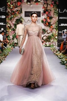 lavender and gold gown, blush pink floor length net gown, sheer lace, lace gown, fairytale, vintage, ,Shyamal Bhumika