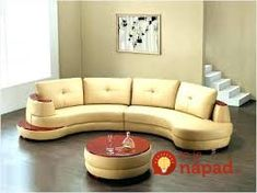 Tips That Help You Get The Best Leather Sofa Deal. Leather sofas and leather couch sets are available in a diversity of colors and styles. A leather couch is the ideal way to improve a space's design and th Small Sectional Couch, Gebogenes Sofa, Living Room Sectional, Leather Sectional, Sofa Furniture, Living Room Furniture, Furniture Design, Round Sectional, Living Rooms