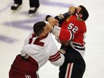 BizNasty: Paul Bissonnette ejected for not having jersey tied down vs. Blackhawks (FIGHT VIDEO)