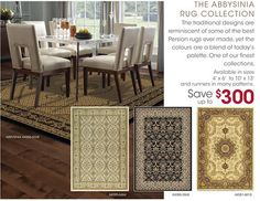 These classic area rugs are now on sale in store and on line. Details at www.alexianan.com