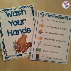 Hand Washing Routine, Book, Posters, & Song by Pocket of Preschool Classroom Routines, Preschool Classroom, Classroom Setting, Classroom Decor, Beginning Of School, Pre School, Hand Washing Poster, Conscious Discipline, Hand Hygiene