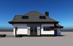 projekt Alicja N 2G+ Model House Plan, House Plans, Home Building Design, Building A House, Model Homes, Gazebo, Sims, Outdoor Structures, Cabin