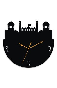 A stylish acrylic clock, featuring the Red Fort at New Delhi! Get this beautiful clock of a lovely monument at your home, only from www.gloob.in