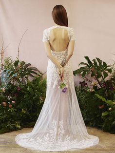 Wedding Dress Ideas, Designers & Inspiration : 17 from Hermione de paula wedding dresses 2016 – Oval open backed dress with small capped sleeve's,long skirt which is sheer from the … Sheer Wedding Dress, 2016 Wedding Dresses, Gorgeous Wedding Dress, Designer Wedding Dresses, Wedding Gowns, Bridesmaid Dresses, Dresses 2016, Bridal Lingerie, Bridal Gowns