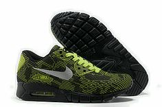 detailing eae19 44986 Cheap Cheap Nike Air Max 90 Carved Sports Shoes Black Green and New Air Max  Vt 90 Hot for Sale