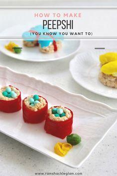 How To Make ADORABLE Peepshi (Peep Sushi) With Rice Krispie Treats | Ramshackle Glam