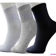 Vin beauty 3Pairs Mens Socks Soft Cotton Comfortable Breathable Thermal Sport Sock Ankle Running