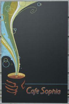 Chalkboard art, coffee