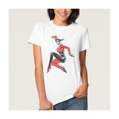 Harley Quinn 1 T-shirts ($21) ❤ liked on Polyvore featuring tops, t-shirts, white top, white t shirt and white tee