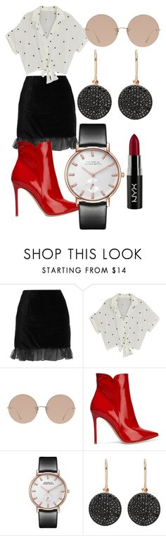 """""""polka"""" by luckyy-14 ❤ liked on Polyvore featuring AlexaChung, Linda Farrow, Gianvito Rossi, Astley Clarke and NYX"""