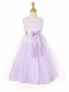 276fb3e32d1 Lilac Lace Bodice w  Double Tulle Over Charmeuse Lilac Flower Girl Dresses