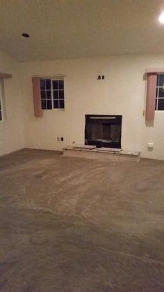 Floor prep for the master bedroom