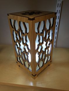 Wooden Laser Cut LED Box Lamp by AppForgeWorks on Etsy
