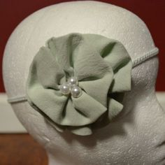 Minty Flower Headband Hairbow   Infant to Adult by LeGaylesBows, $4.95