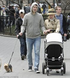 Chelsea Clinton looks very stylish in her Eric Javits Squishee Classic hat  while taking a stroll 98bfb1c4d39