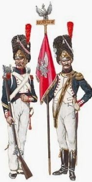 Alfiere e sottufficiale dei granatieri polacchi