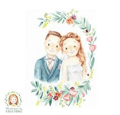 Custom Wedding Couple or Family Portrait by RaisaKrossPictures