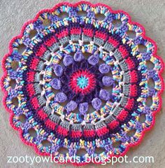 Step by step instructions crochet mandala