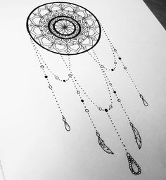 31 of the Prettiest Mandala Tattoos on Pinterest | Dreamcatcher Dotwork