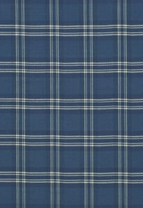 "Check Rustique Atlantic Blue 50204 by Schumacher Fabric Chroma 100% Cotton - Wyzenbeek 4,000 H:4 1/4"", V:4 1/4"" 54"" - Fabric Carolina - Schumacher"