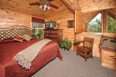 American Heritage - The moment you arrive at this luxury, Pigeon Forge cabin, you will experience breathtaking views of the gorgeous Great Smoky Mountains